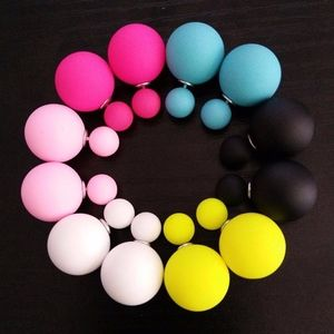6 Pairs - Lot of Mixed Colors Ball Earrings